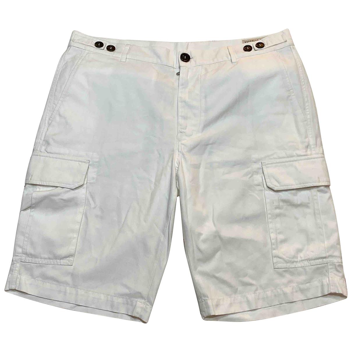 Brunello Cucinelli \N White Cotton Shorts for Men 50 IT