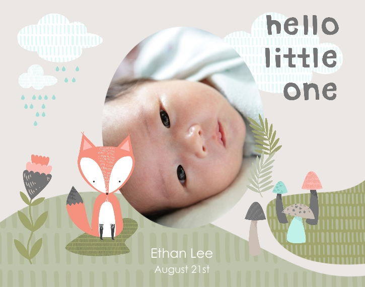 Baby + Kids 11x14 Adhesive Poster, Home Décor -Little Fox