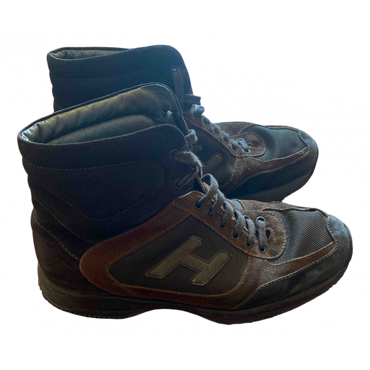 Hogan \N Brown Leather Trainers for Men 42 EU