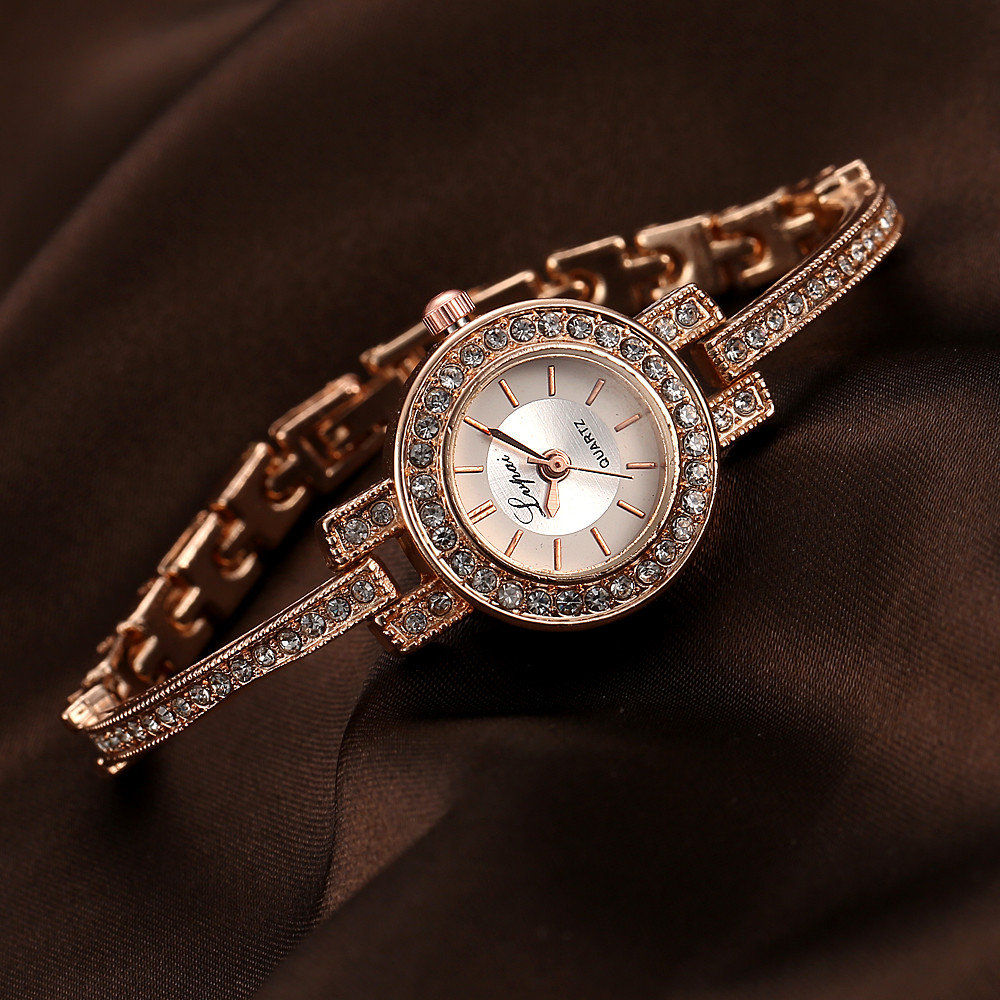 Fashion Style Crystal Women Wrist Watch Elegant Design Full Steel Quartz Watch