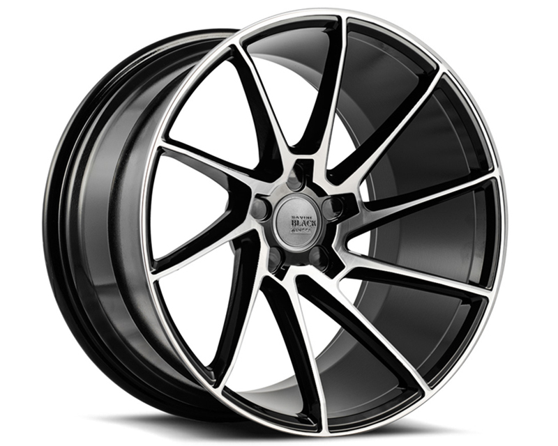 Savini BM15-20100545M1579R di Forza Machined Black with Black Lip BM15 Right Wheel 20x10.0 5x114.3 15mm
