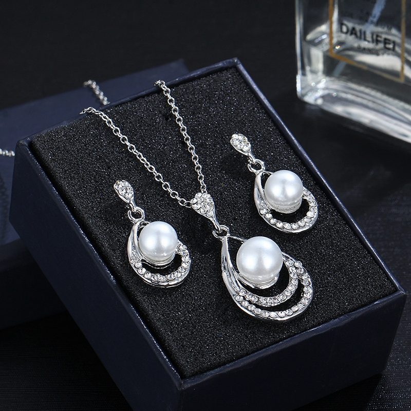 Ericdress Diamante Earrings Floral Jewelry Sets (Wedding)