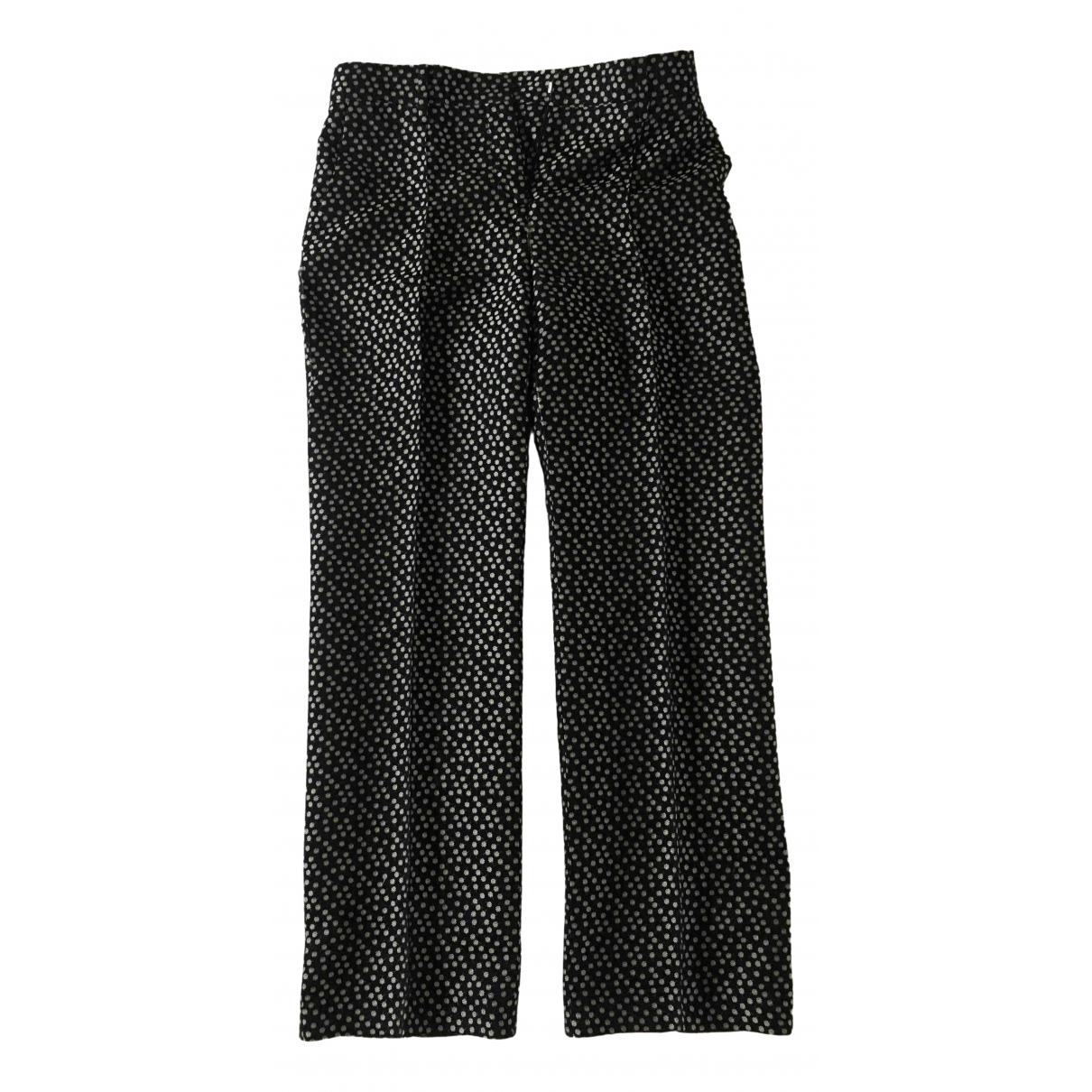 Valentino Garavani \N Black Silk Trousers for Women 42 IT