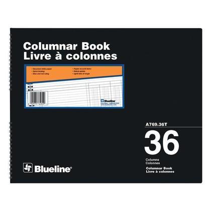 Blueline@ A769 Columnar Livre Comptabilit e - Papier recycle blanc - 36 col.