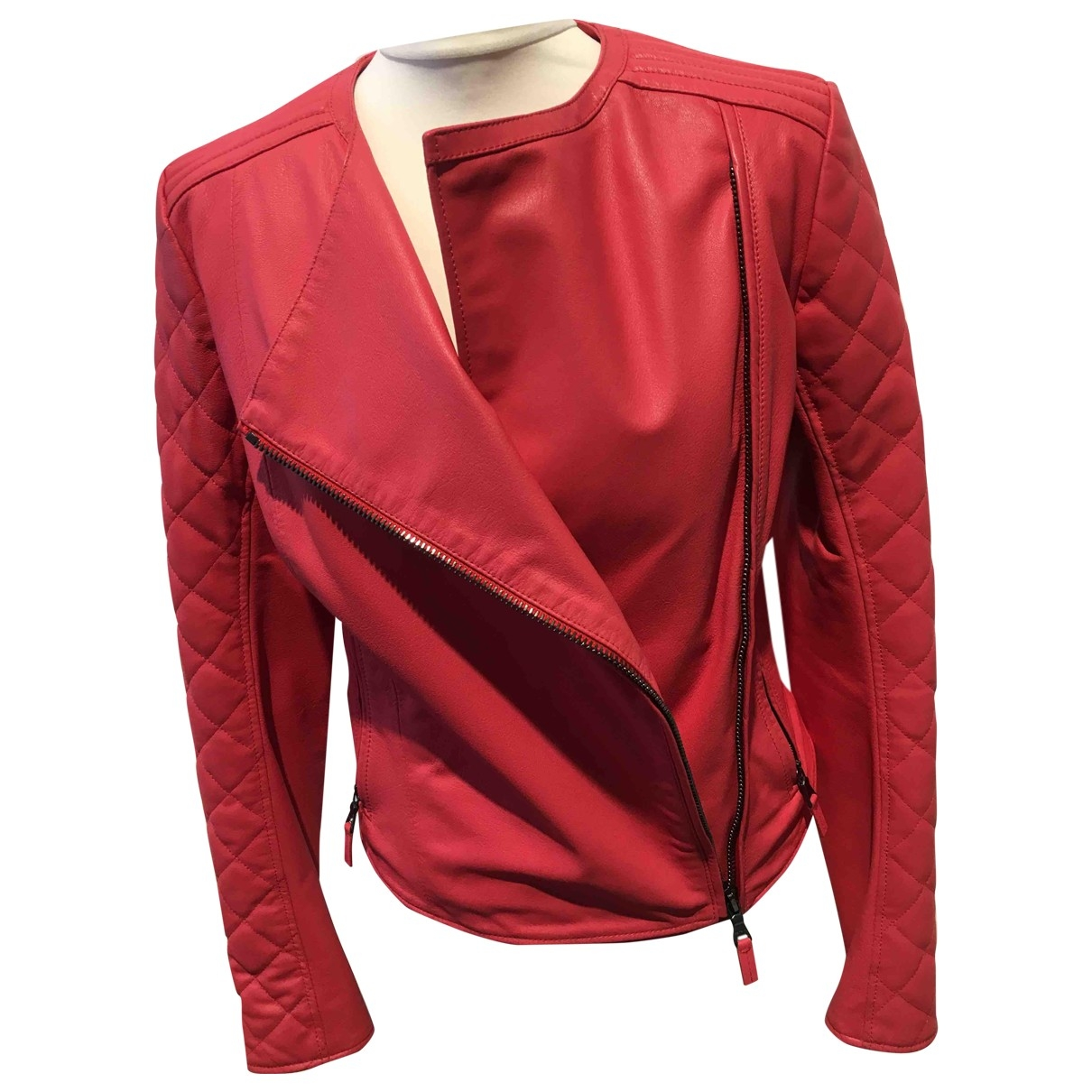 Etro \N Red Leather jacket for Women 42 IT