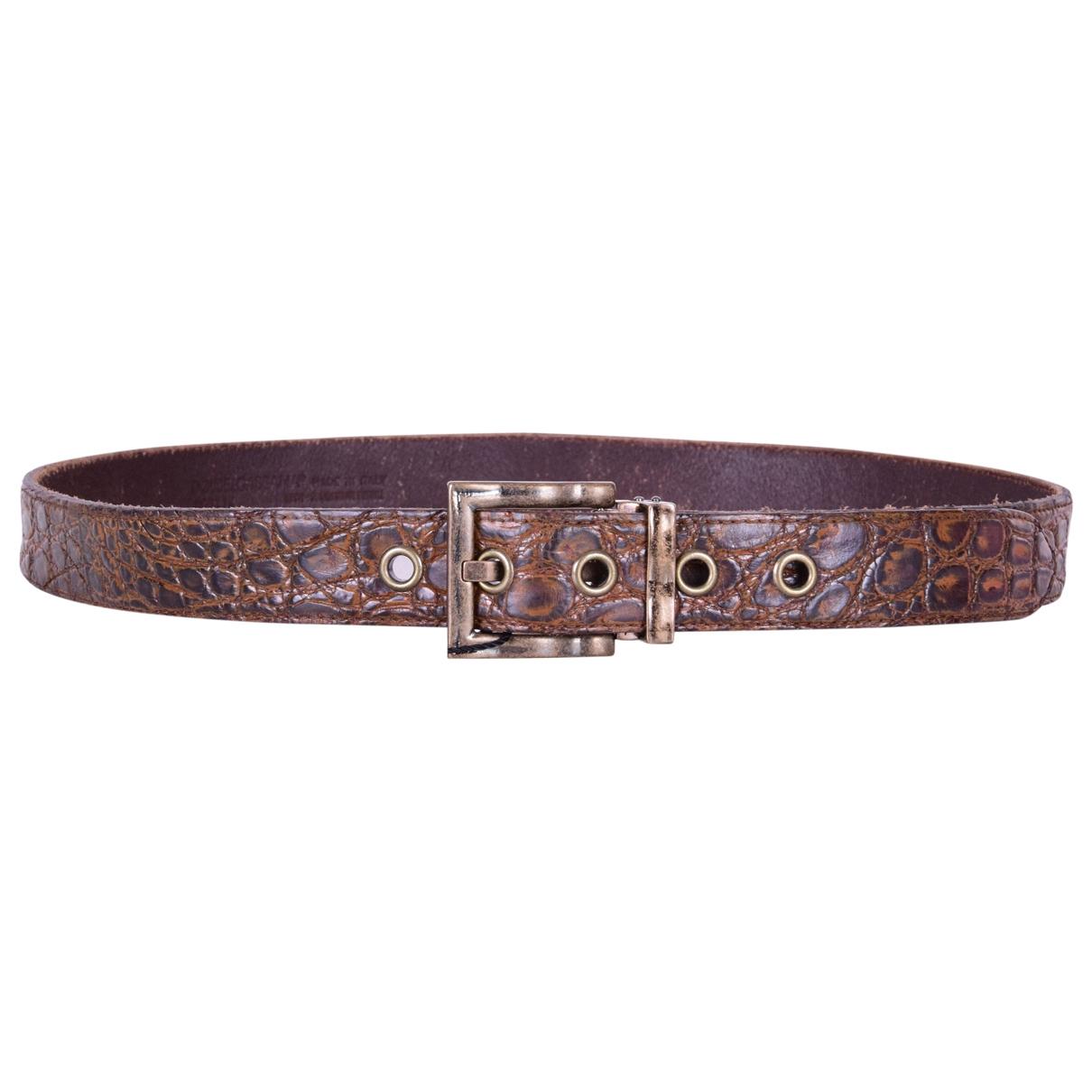 Dolce & Gabbana \N Brown Crocodile belt for Men 90 cm
