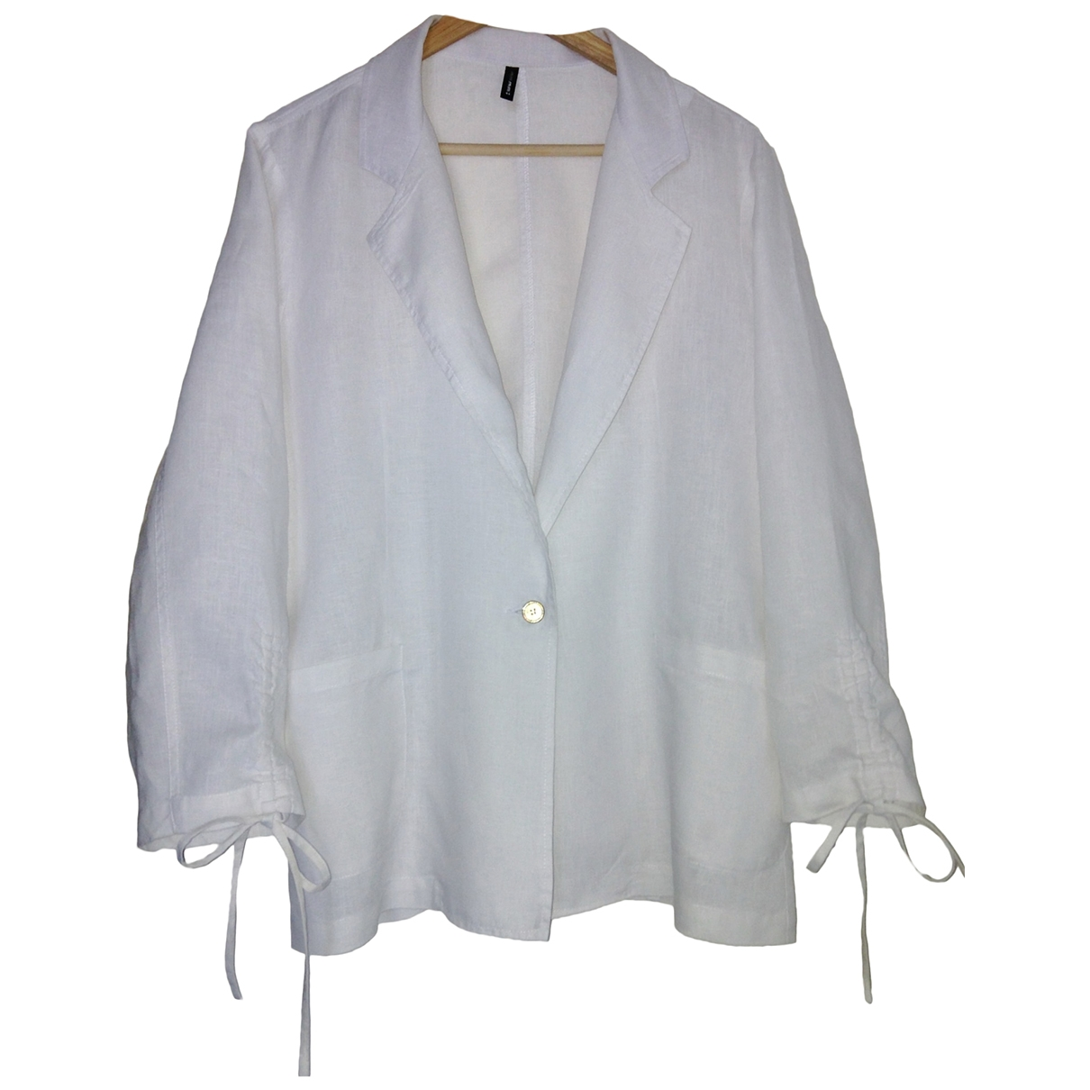 Non Signé / Unsigned \N White Cotton jacket for Women 44 FR