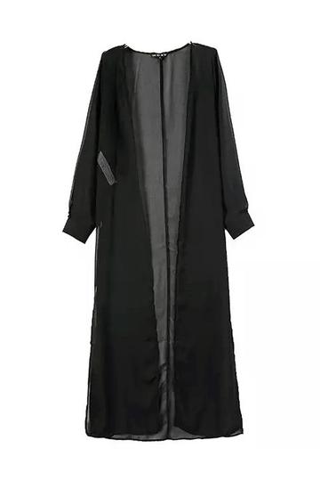 Yoins Maxi Kimono With Side Splits
