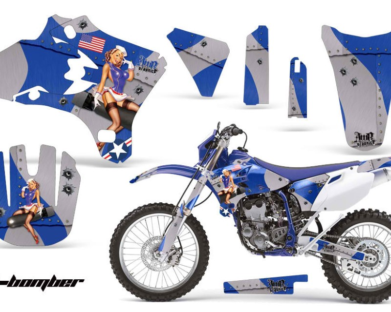 AMR Racing Dirt Bike Graphics Kit Decal Wrap For Yamaha YZ250F YZ450F 2003-2005áTBOMBER BLUE