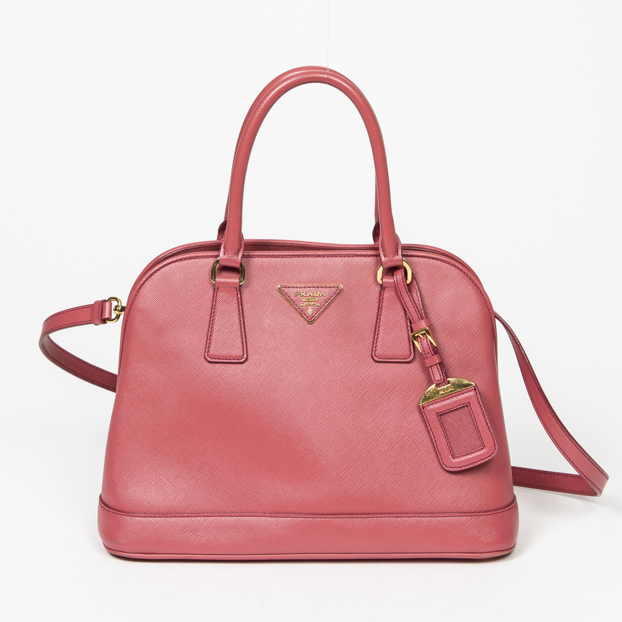 Prada saffiano  Pink Leather handbag for Women \N