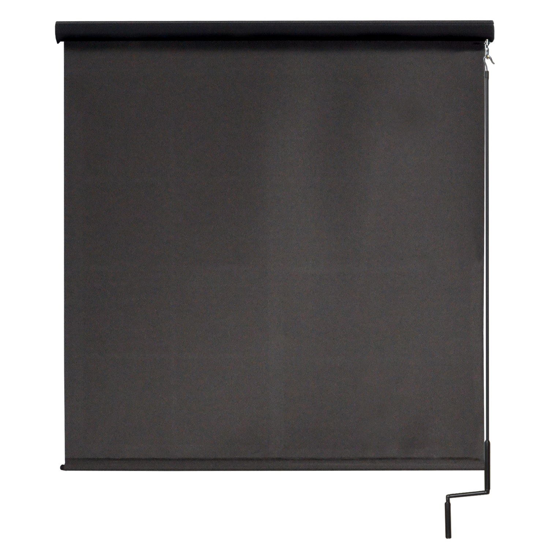Premier Cordless Outdoor Sun Shade with Protective Valance, 8' W x 8' L, Mahogany