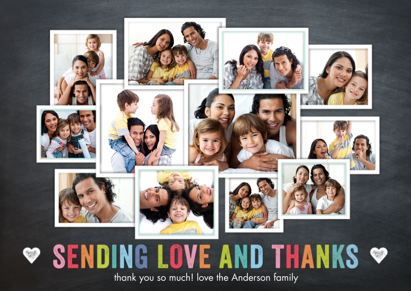 Thank You Cards 5x7 Cards, Premium Cardstock 120lb with Scalloped Corners, Card & Stationery -Thank You Memories Collage