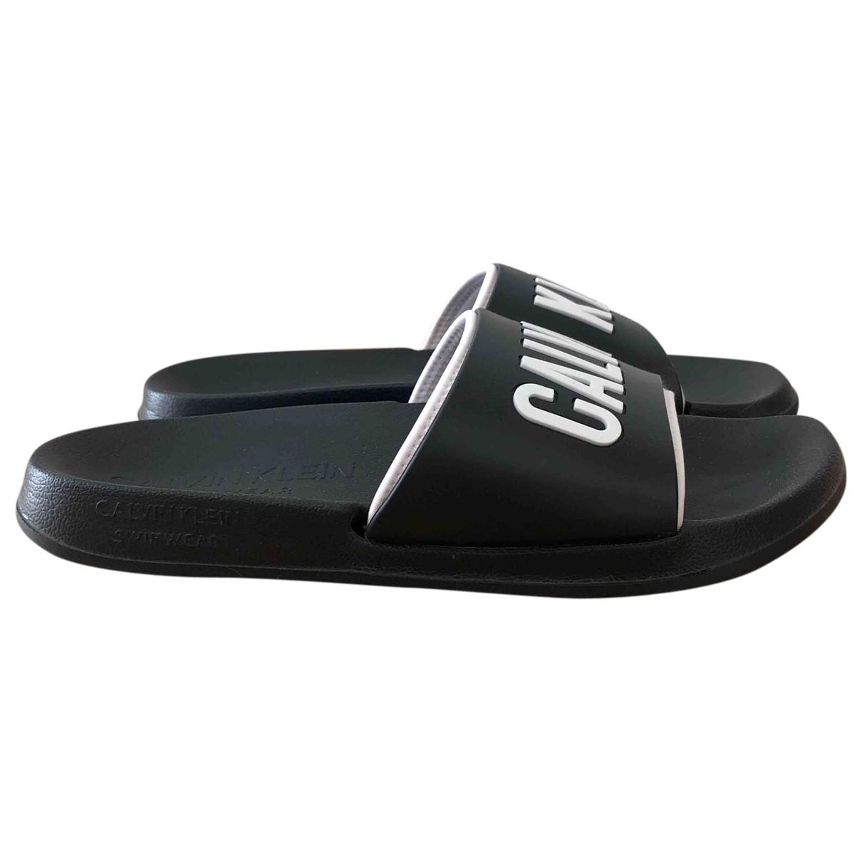 Calvin Klein \N Black Rubber Sandals for Men 41.5 EU
