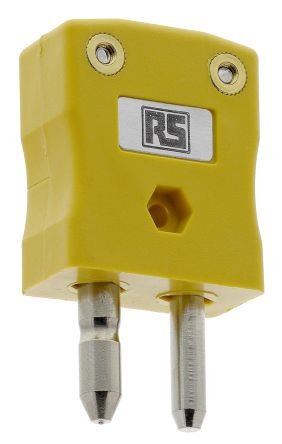 RS PRO BS Thermocouple Connector for use with Type K Thermocouple Type K, Standard, Yellow