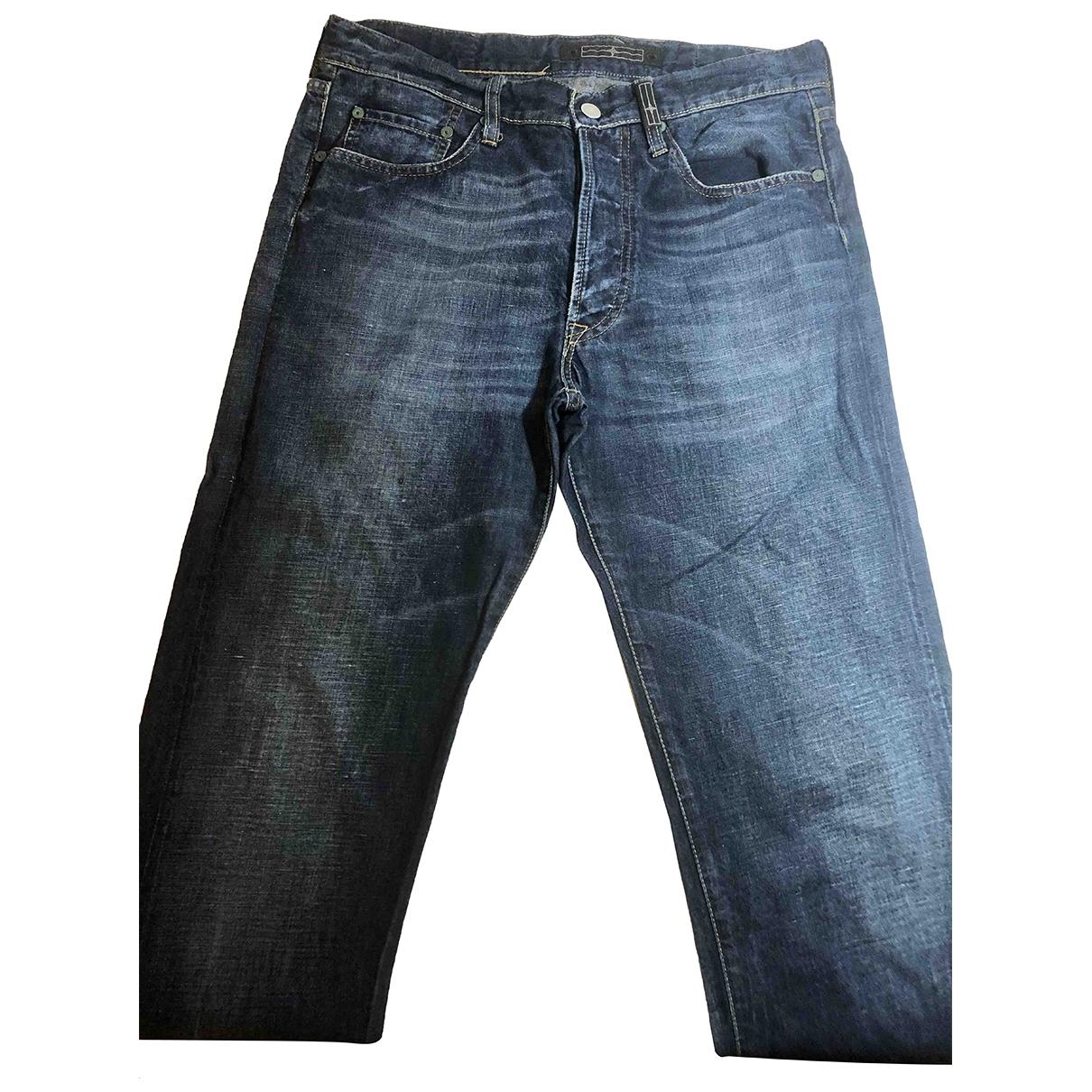 Stone Island \N Blue Cotton - elasthane Jeans for Men 32 US