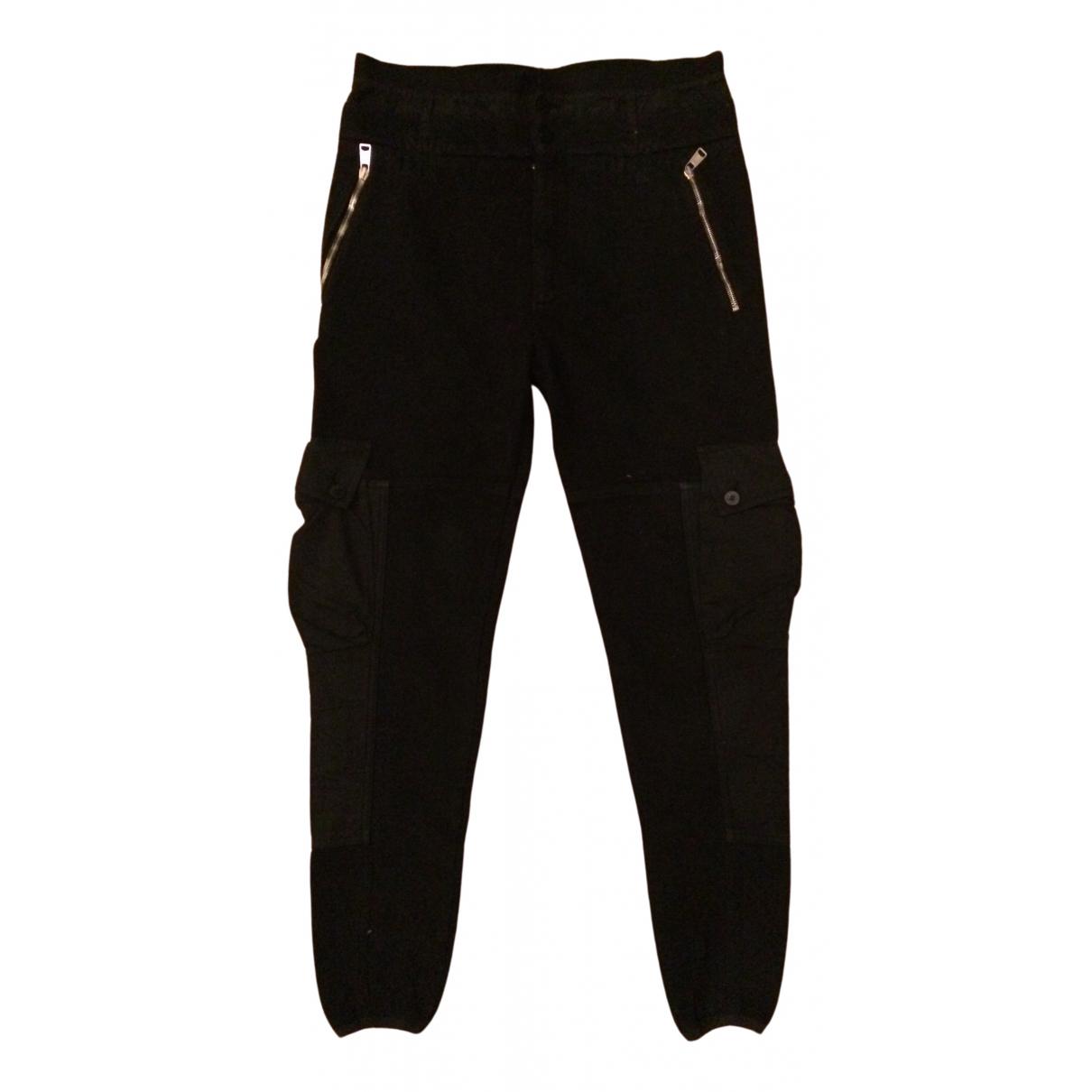 Alexander Mcqueen \N Black Cotton Trousers for Men 40 UK - US