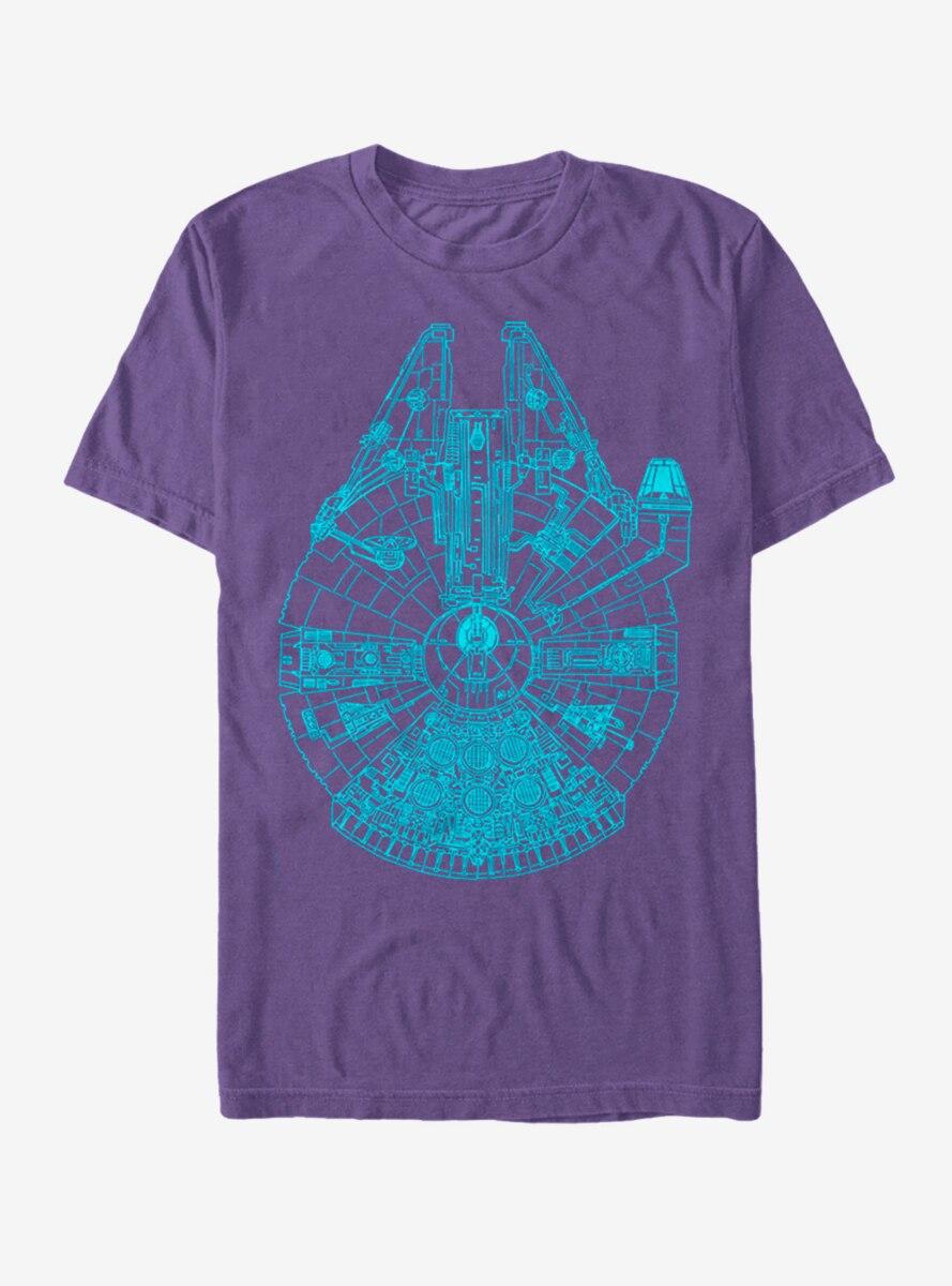 Star Wars Millennium Falcon Outline T-Shirt