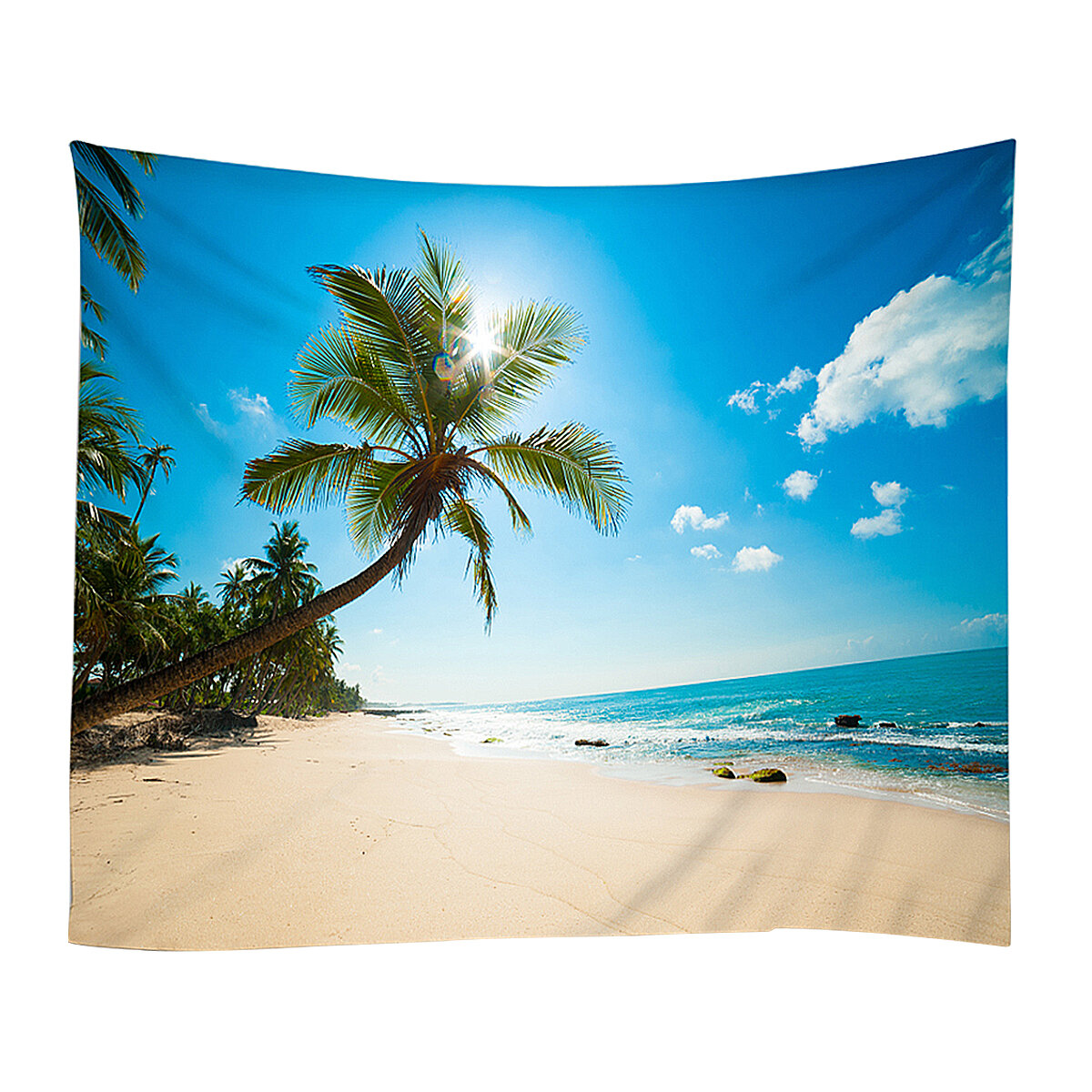 Blue Sea Water Sky Beach Shore Seaside Home Decor Tapestry Blanket Polyester Fabric Wall Tapestries