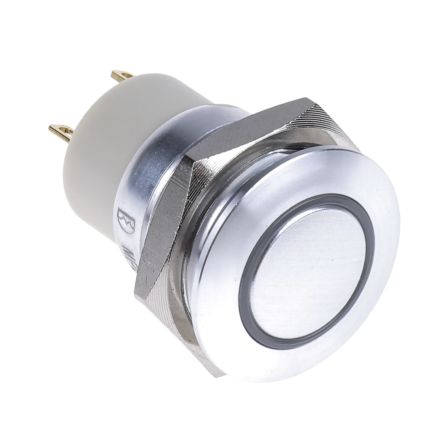 RS PRO Single Pole Single Throw (SPST) Momentary Green LED Push Button Switch, IP67, 16 (Dia.)mm, Panel Mount, 36V dc (20)