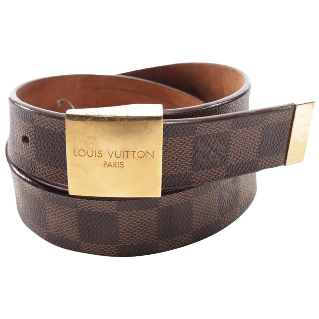 Louis Vuitton \N Brown Cotton belt for Women 95 cm