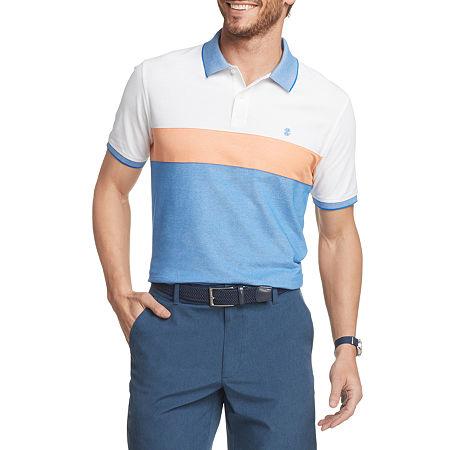 IZOD Mens Cooling Short Sleeve Polo Shirt Big and Tall, 6x-large , Orange