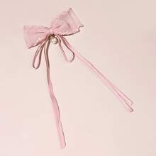 Girls Bow Decor Hair Clip