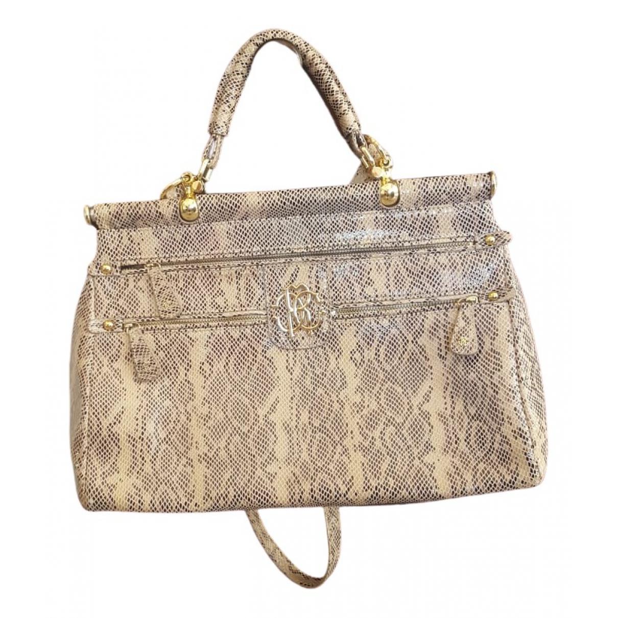 Roberto Cavalli \N Beige Exotic leathers handbag for Women \N