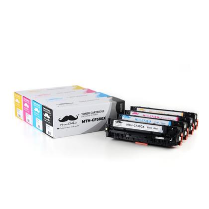 Compatible HP312X-312A cartouche de toner combo BK/C/M/Y - Moustache®