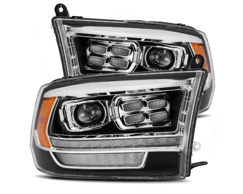 Alpharex USA LUXX-Series Projector Headlights Black/Chrome Accent Dodge Ram 2009-2018