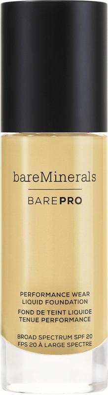 BAREPRO Performance Wear Liquid Foundation Broad Spectrum SPF 20 - Sandstone 16 (for medium warm skin w/ yellow undertones)