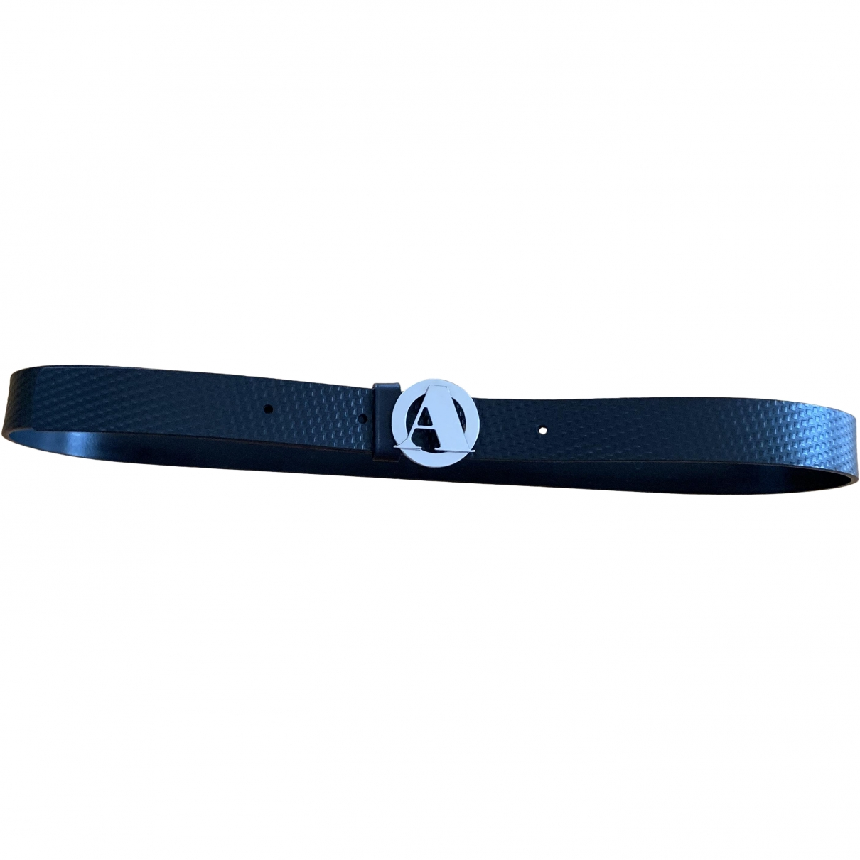 Aquascutum \N Black Leather belt for Men 100 cm