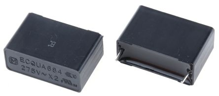 Panasonic 680nF Polypropylene Capacitor PP 275V ac ±20% Tolerance Through Hole ECQUA Series (5)
