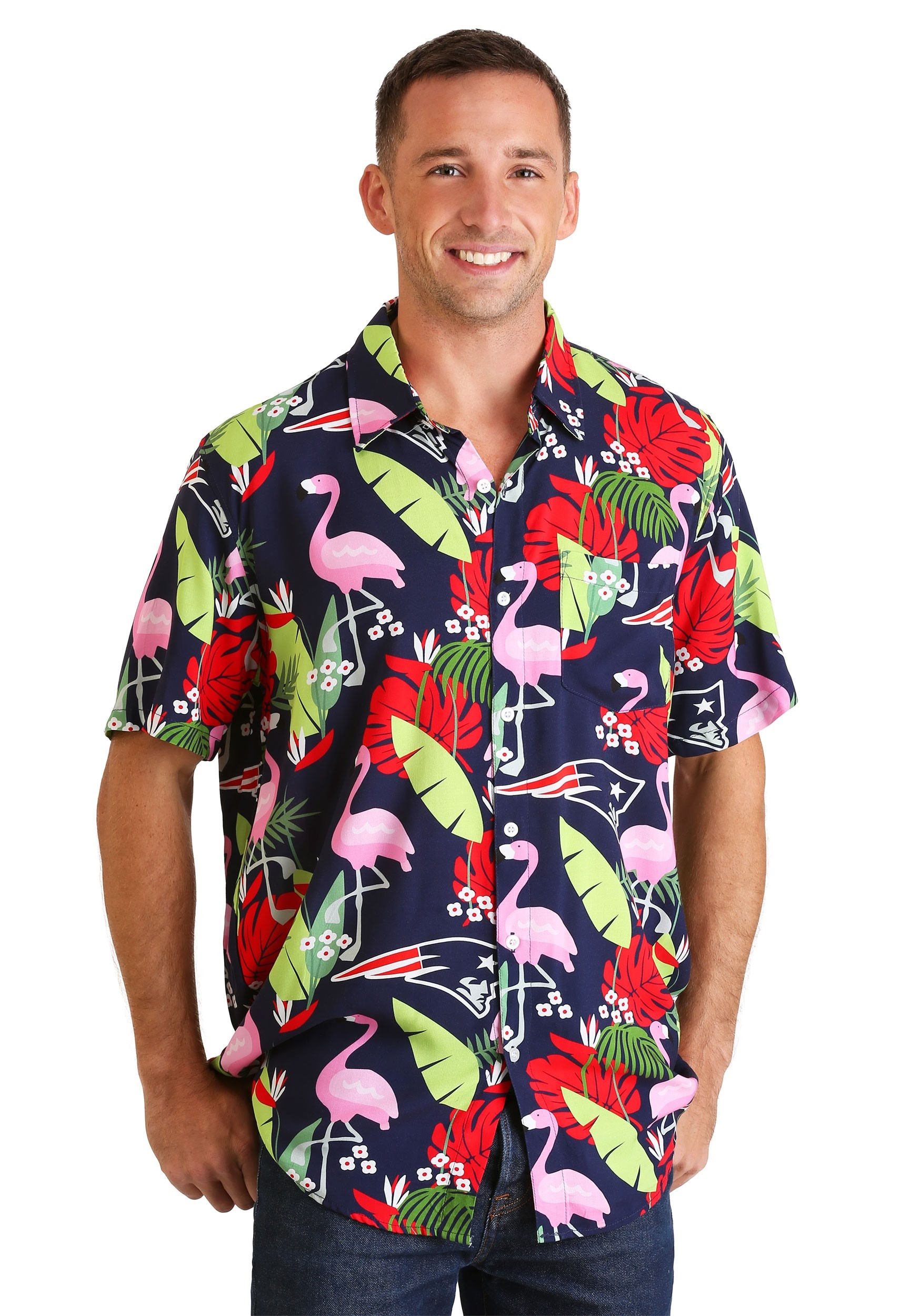 New England Patriots Floral Shirt for Men