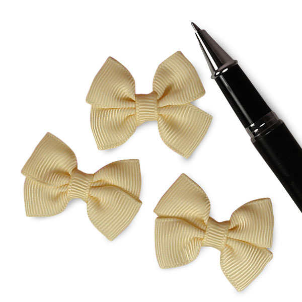 Ivory Grosgrain Bow Tie 1 1/2