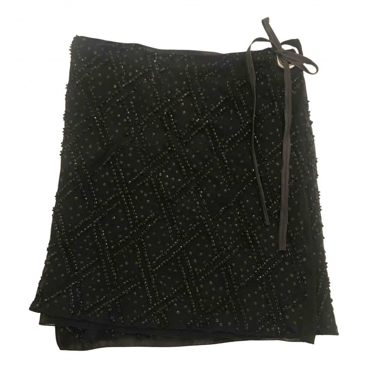 Emporio Armani N Black Glitter skirt for Women 40 IT