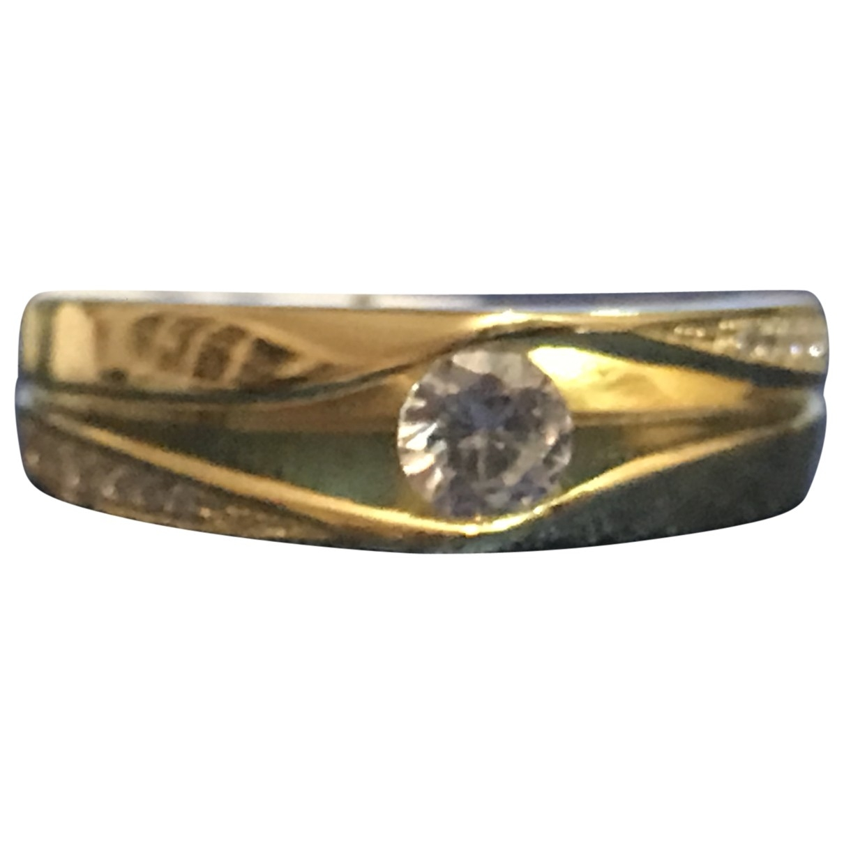 Non Signé / Unsigned \N Gold Silver Gilt ring for Women \N