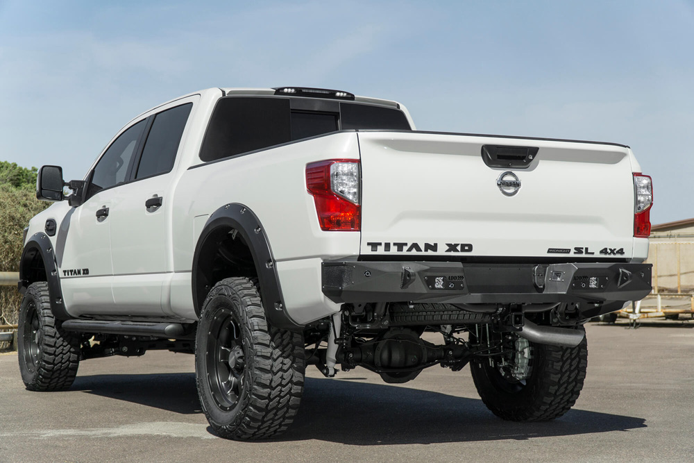 Addictive Desert Designs R911231280103 Stealth Fighter Rear Bumper Nissan Titan XD 16-18