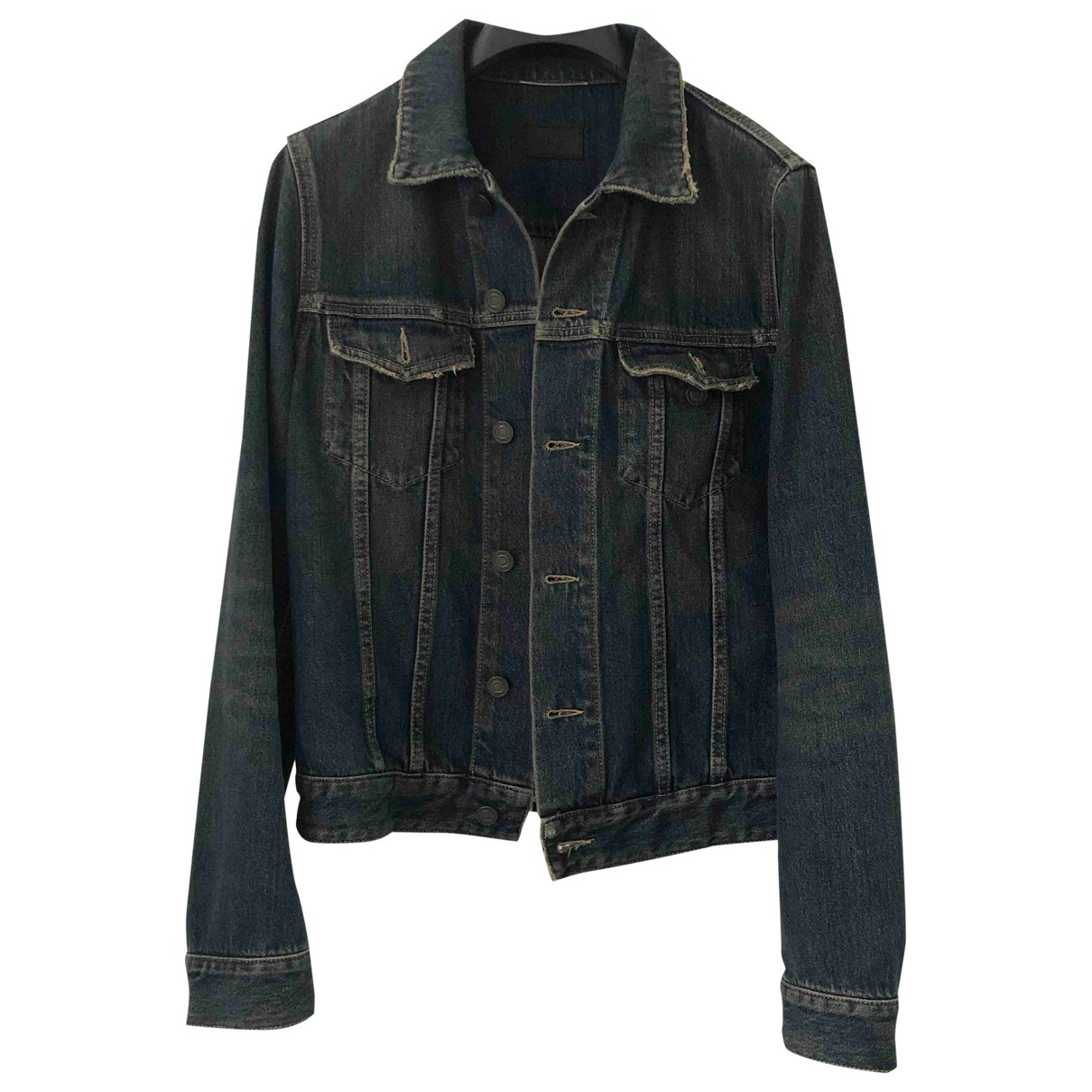 Saint Laurent \N Blue Cotton jacket  for Men 44 IT