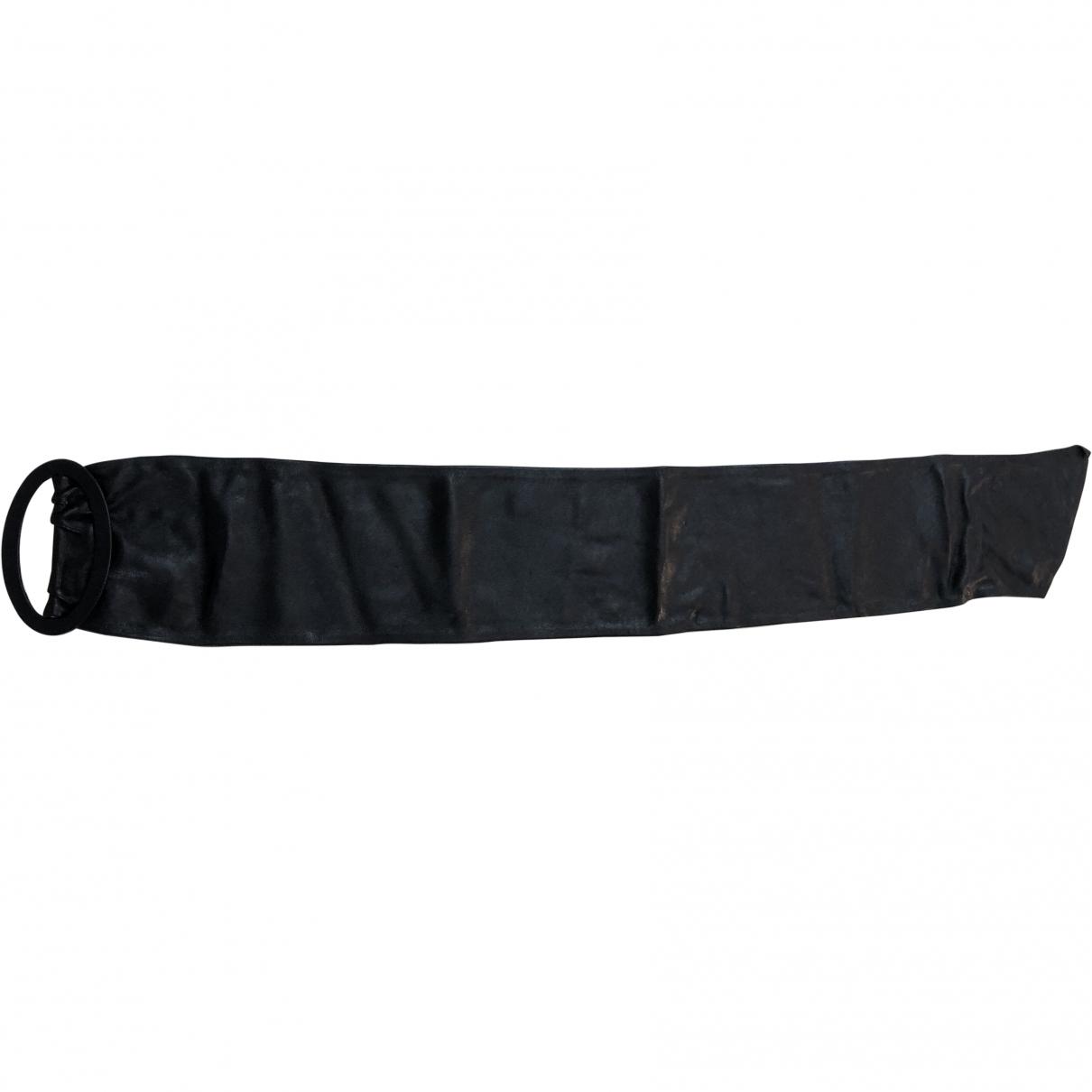 Anna Molinari \N Black Leather belt for Women 85 cm