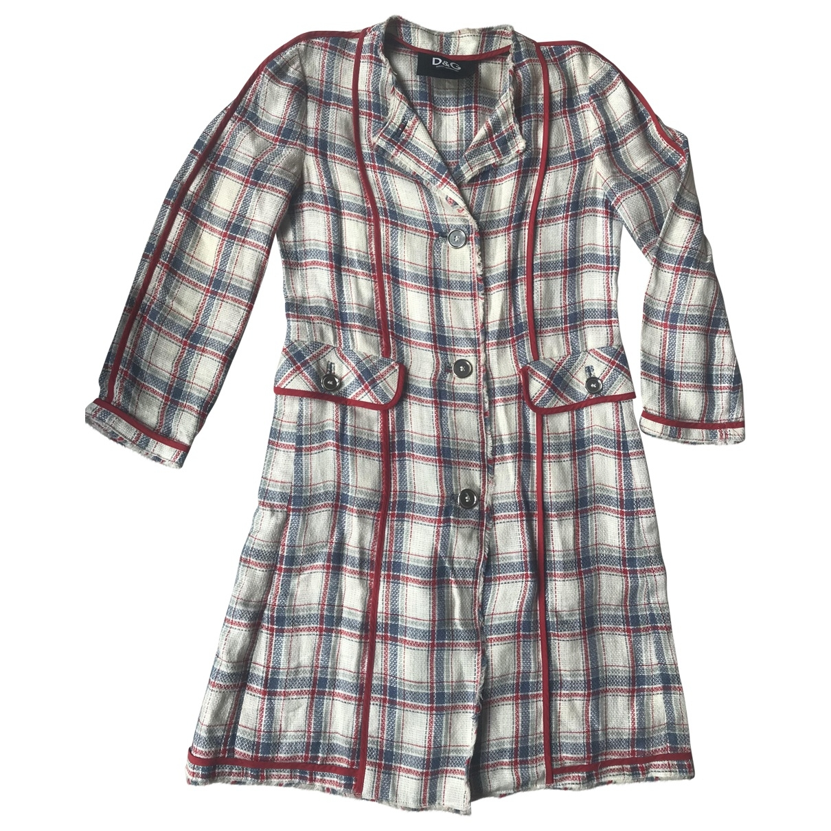 D&g \N Multicolour Linen coat for Women 44 IT
