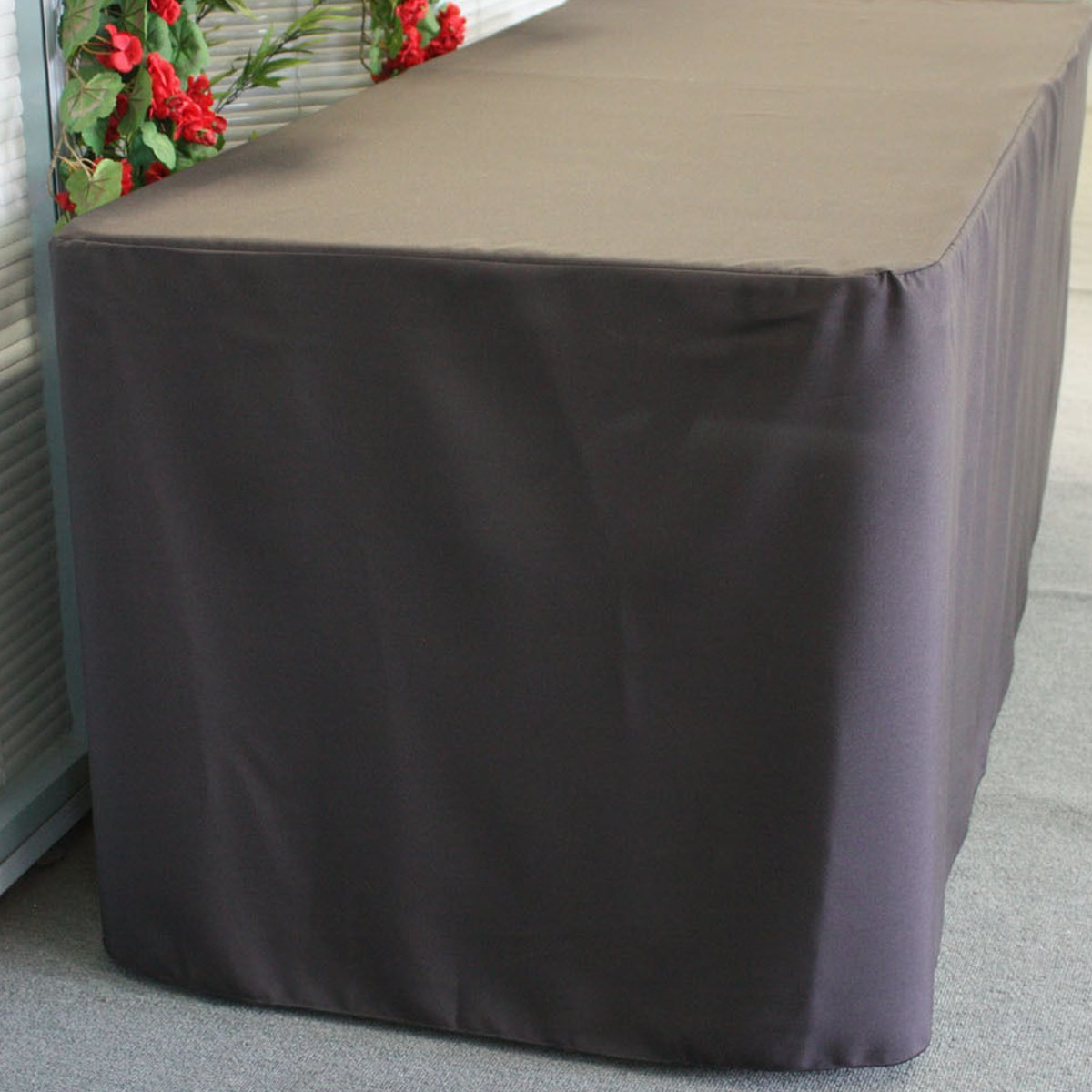 123cmX61cmX72cm Trestle Polyester Table Cover Fitted Black To Fit 4 Foot Market Fair Folding Stall