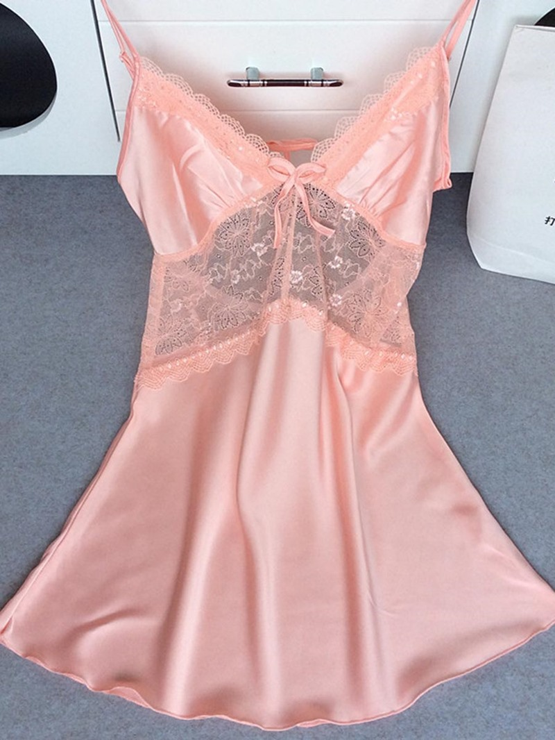 Ericdress V-Neck Above Knee Nightgown