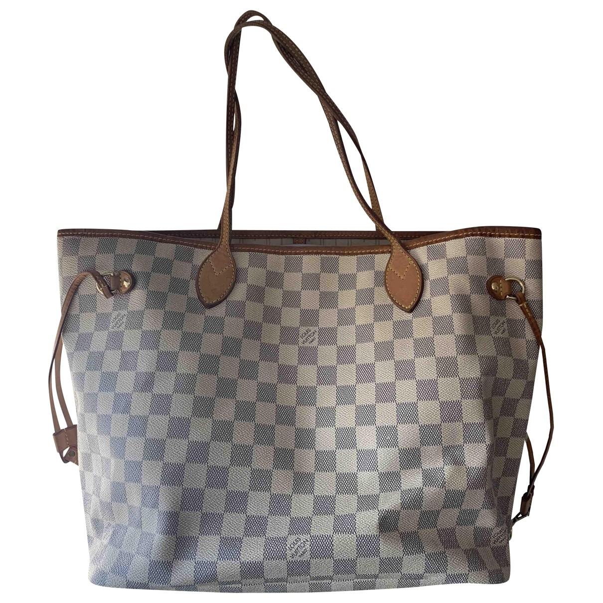 Louis Vuitton Neverfull White Cloth handbag for Women \N