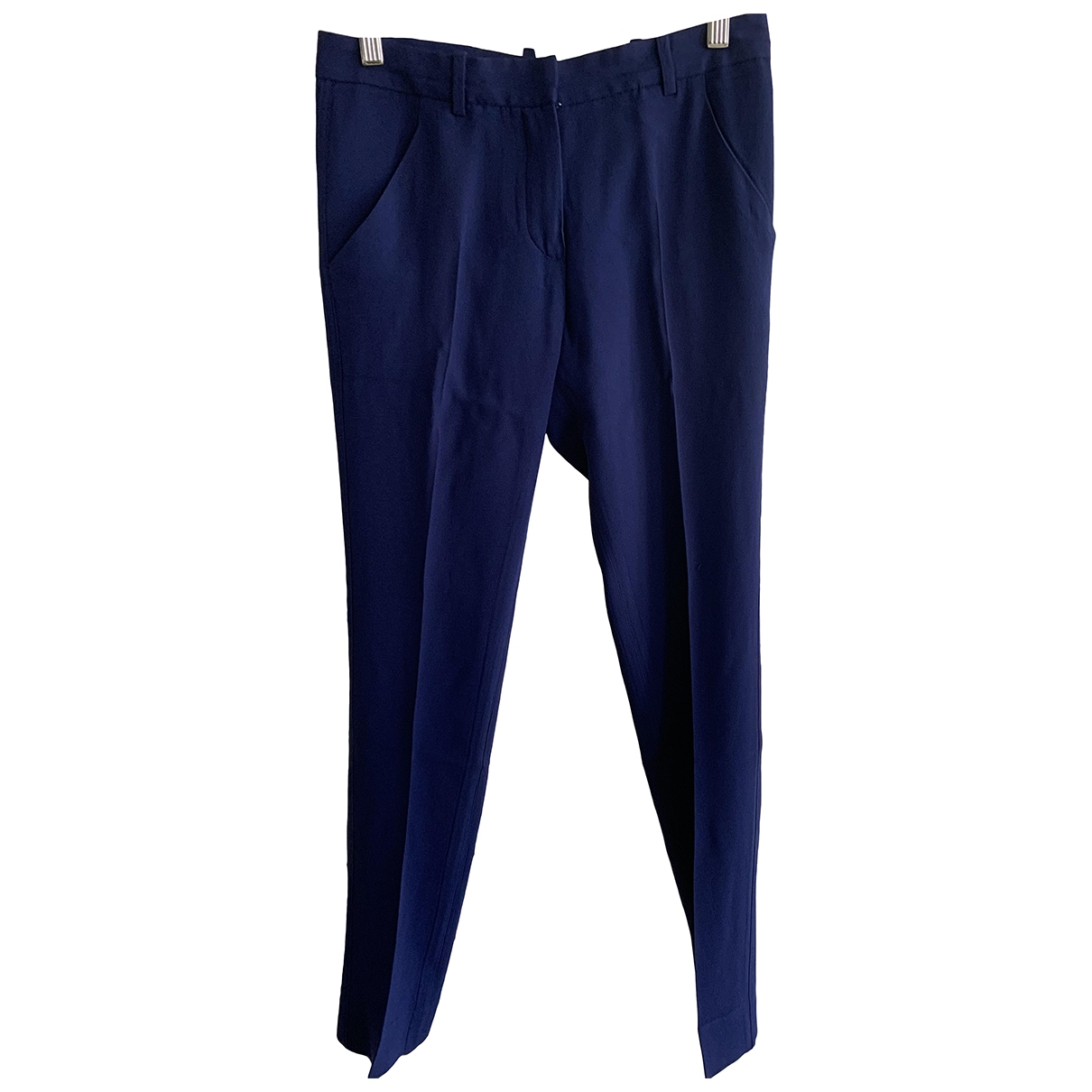 Balenciaga \N Blue Trousers for Women 34 FR