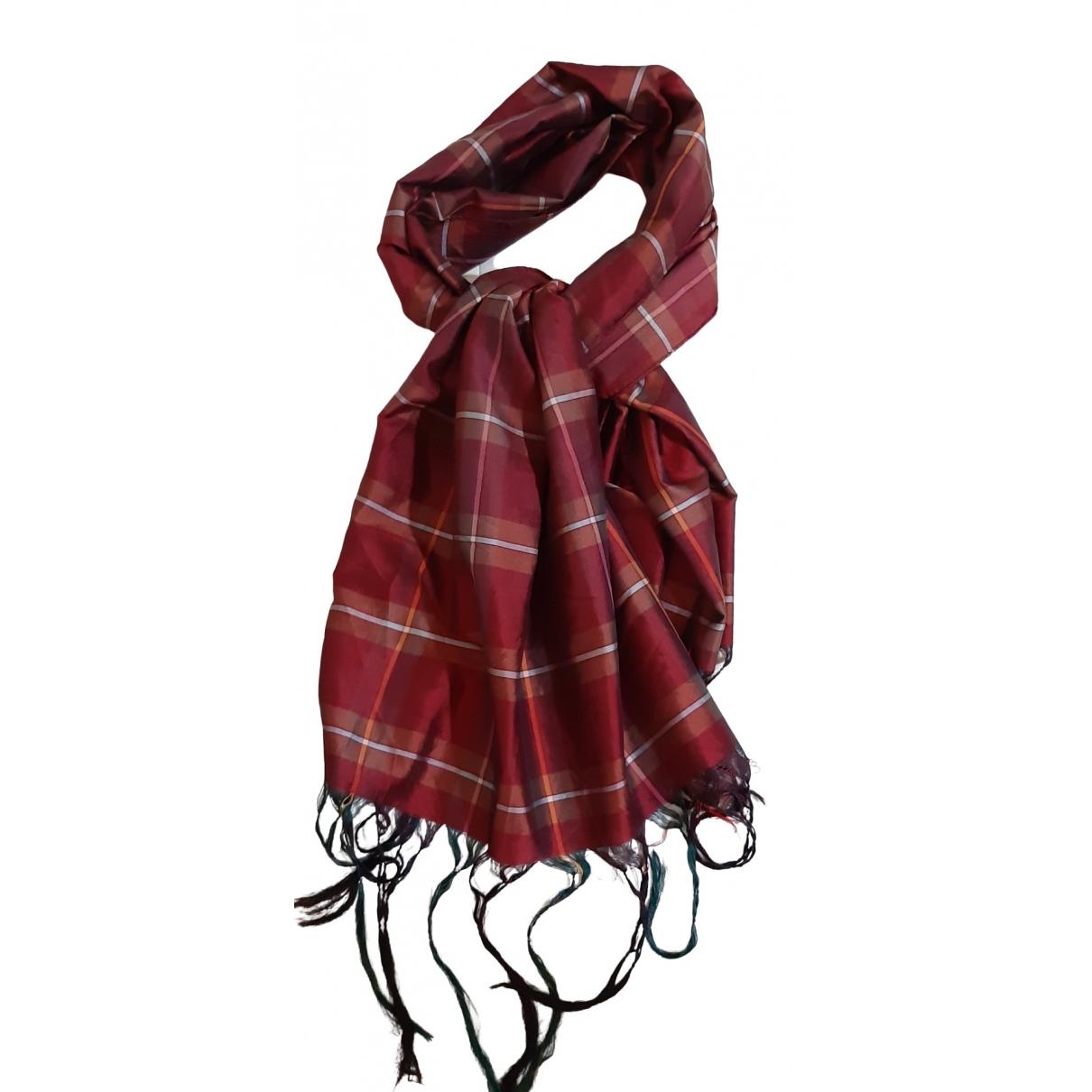 Altea \N Burgundy Silk scarf & pocket squares for Men \N