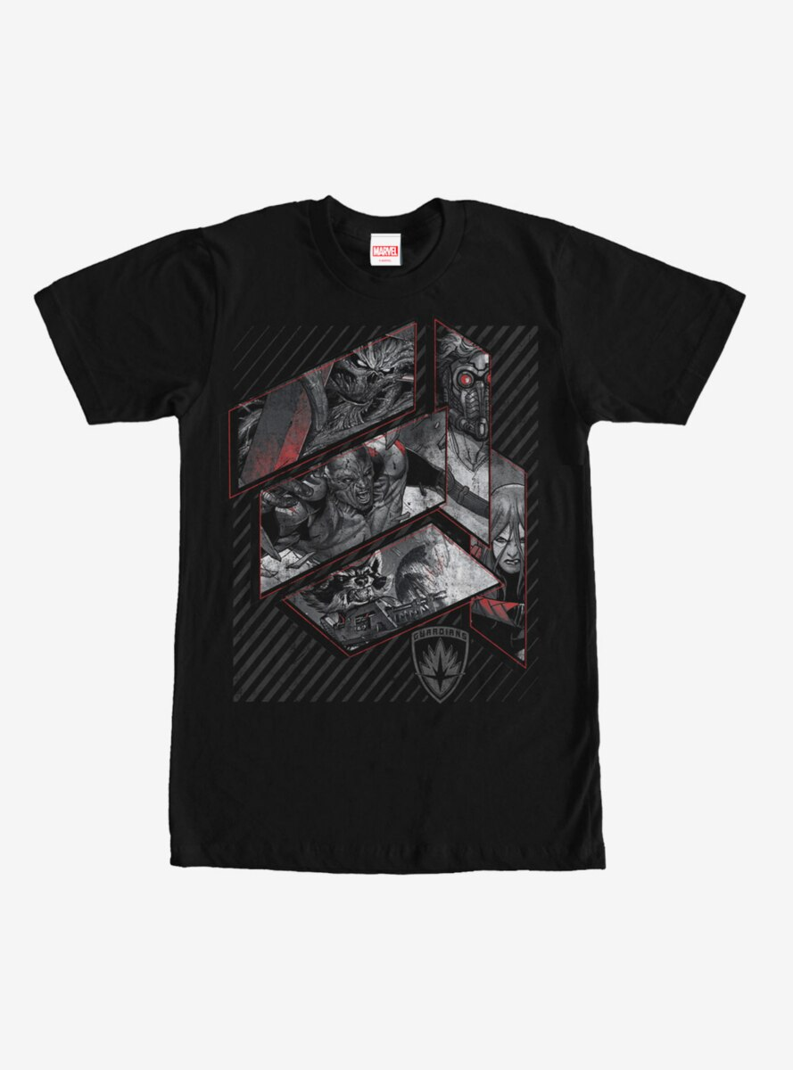 Marvel Guardians of the Galaxy Grayscale T-Shirt