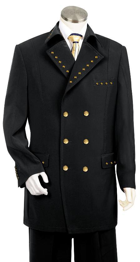 2 Button Tuxedo Suit Wool Feel Black Jacket/Blazer Mens Cheap