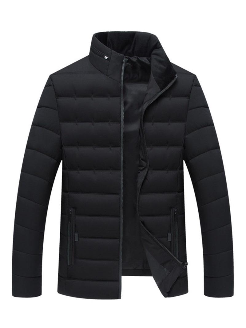 Ericdress Plain Thick Casual Zipper Mens Down Coats