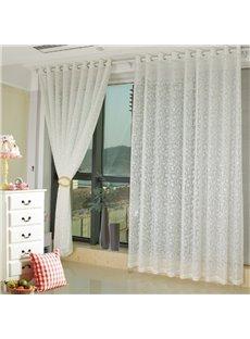 Modern Fashion White Living Room&Bedroom Custom Sheer Curtain