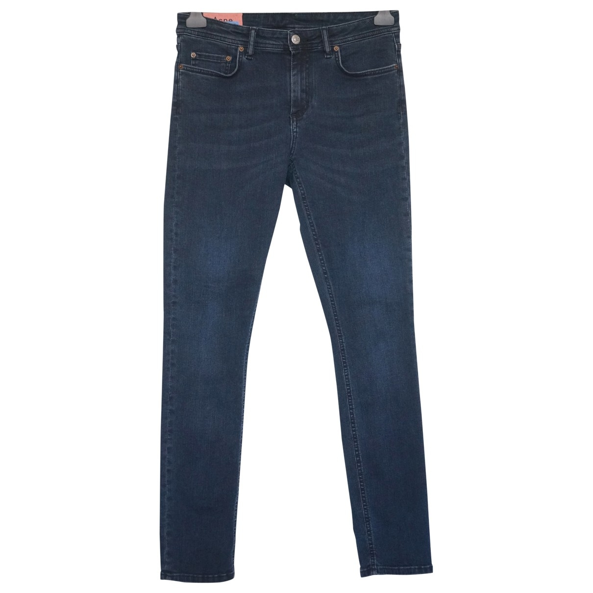 Acne Studios Blå Konst Navy Cotton - elasthane Jeans for Women 29 US